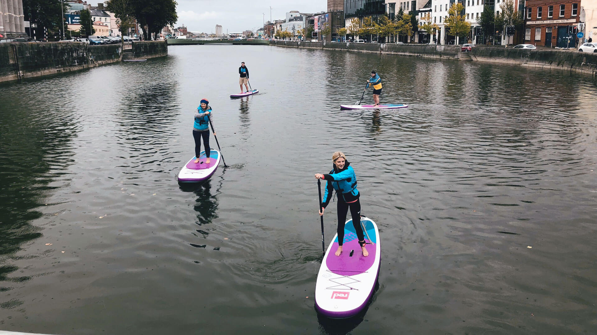 paddleboarding along the Lee in Cork